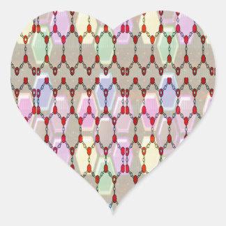 El romance elegante del modelo de la joya bendice  pegatinas corazon personalizadas