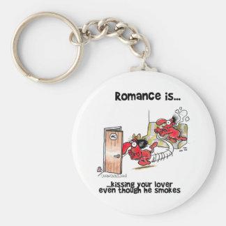 El romance es… Besar a su amante incluso fuma Llaveros Personalizados