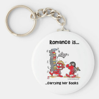 El romance es… Llevar sus libros Llavero Personalizado