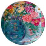 El romance florece la placa diseñada artista de la platos de cerámica