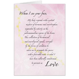 El romance se comerá tarjeta de felicitación