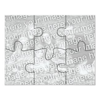 """El rompecabezas adaptable Card-6 de la """"mofa"""" de Anuncios Personalizados"""