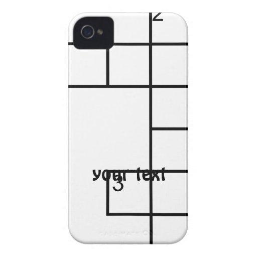 El rompecabezas Cacher Geocaching añade su caso de Case-Mate iPhone 4 Cárcasas