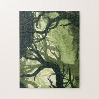 El rompecabezas de Bosque verde