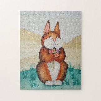 El rompecabezas de conejito del conejo de los niño