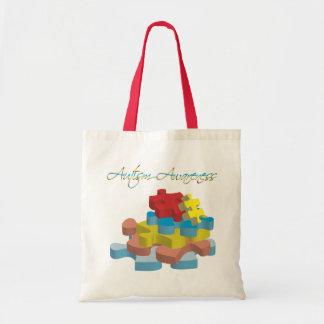 El rompecabezas de la conciencia del autismo junta bolsas