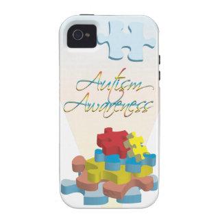 El rompecabezas de la conciencia del autismo junta iPhone 4/4S funda