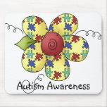 El rompecabezas de la conciencia del autismo junta alfombrilla de ratones