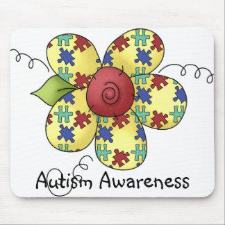 El rompecabezas de la conciencia del autismo junta tapete de ratón