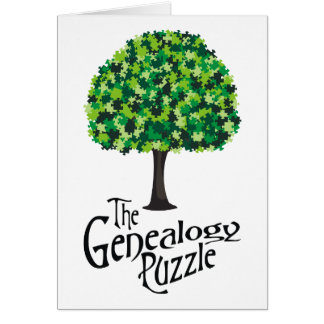 El rompecabezas de la genealogía tarjeta de felicitación