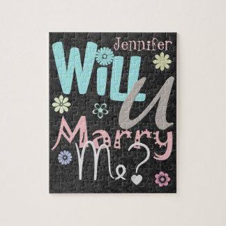 El rompecabezas de la propuesta de matrimonio