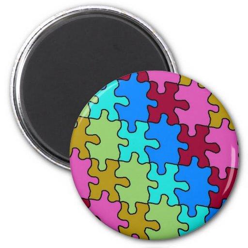el rompecabezas del autismo junta las piezas de 3 iman para frigorífico