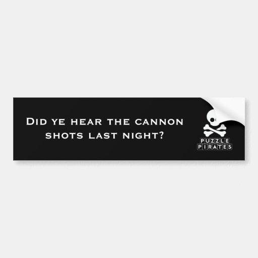 El rompecabezas piratea a la pegatina para el para etiqueta de parachoque