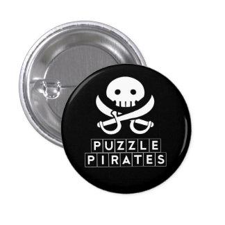 El rompecabezas piratea el botón del cráneo pin redondo de 1 pulgada