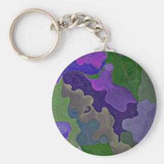 el rompecabezas púrpura junta las piezas del llavero redondo tipo pin