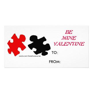 El rompecabezas sea tarjeta de la tarjeta del día  tarjeta fotográfica personalizada