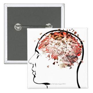 El romper del cerebro pin cuadrado