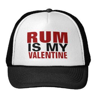 El ron divertido es mi el día de San Valentín anti Gorros Bordados