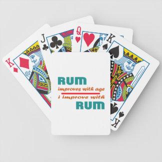 El ron mejora con edad baraja cartas de poker