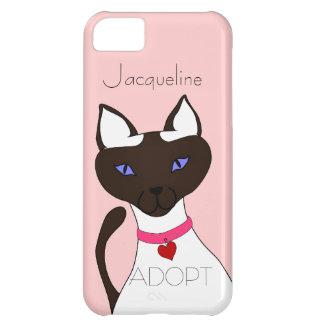 El Ronroneo-fect Moira ADOPTA el gato siamés Funda Para iPhone 5C