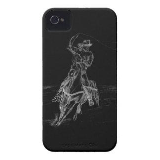 El Roping del vaquero Case-Mate iPhone 4 Fundas
