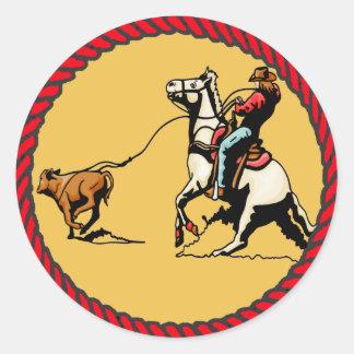 El Roping occidental del becerro del pegatina