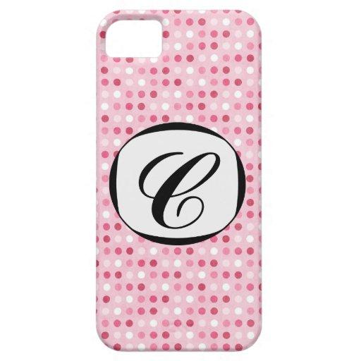 El rosa 311 en rosa puntea la cubierta inicial del iPhone 5 Case-Mate protectores