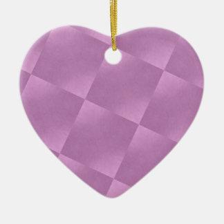 El rosa ajusta el ornamento del corazón adorno navideño de cerámica en forma de corazón