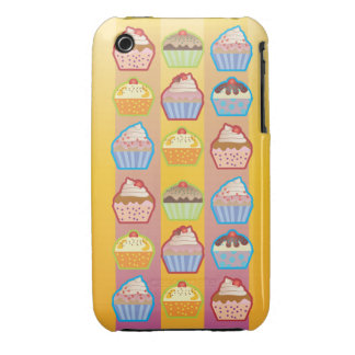 El rosa amarillento de las magdalenas de Lotsa iPhone 3 Carcasa