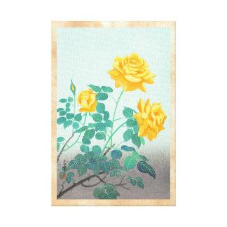 El rosa amarillo de Ohno Bakufu florece a japonese Impresion De Lienzo