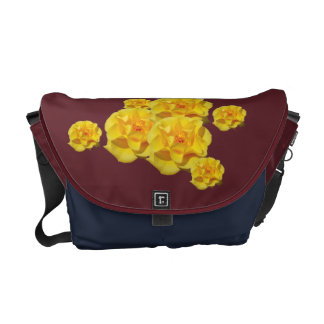 El rosa amarillo florece messengerbag bolsas de mensajeria