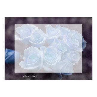 """El rosa azul colorized el fondo manchado ramo invitación 5"""" x 7"""""""