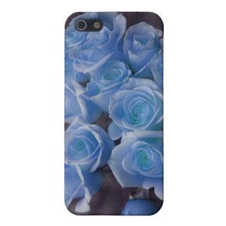 El rosa azul colorized el fondo manchado ramo iPhone 5 fundas