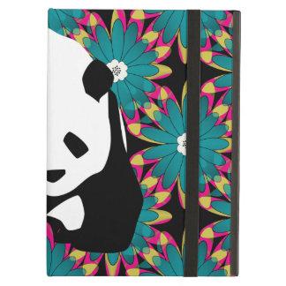 El rosa azul lindo del oso de panda florece el