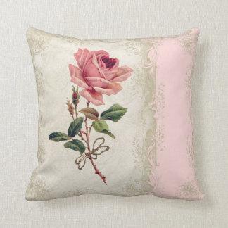 El rosa barroco del vintage del estilo se ruboriza cojín