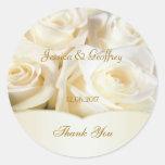 El rosa blanco elegante le agradece pegatina del b