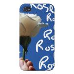 El rosa blanco, parte posterior del azul, subió es iPhone 4 fundas