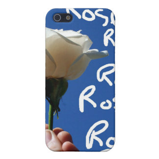 El rosa blanco, parte posterior del azul, subió es iPhone 5 fundas