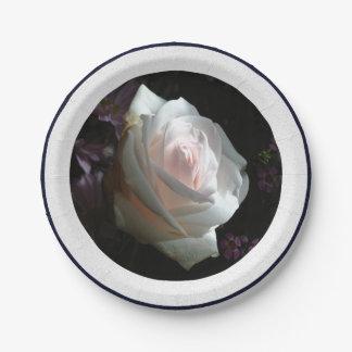 El rosa blanco - platos de papel
