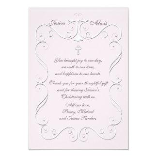 """El rosa blando del corazón religioso le agradece invitación 3.5"""" x 5"""""""