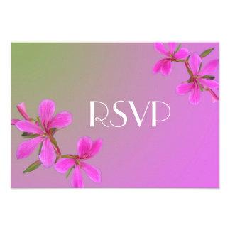 el rosa bonito florece la tarjeta de RSVP para las Invitaciones Personalizada