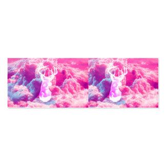 El rosa brillante de los ciervos del vector femeni tarjetas de visita mini
