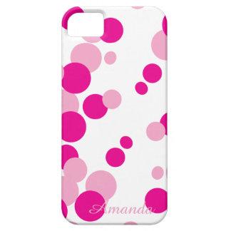 El rosa burbujea caso del iPhone iPhone 5 Fundas