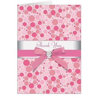 El rosa burbujea rosado le agradece las tarjetas
