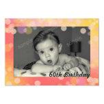 El rosa burbujea tarjeta de cumpleaños de la foto anuncios