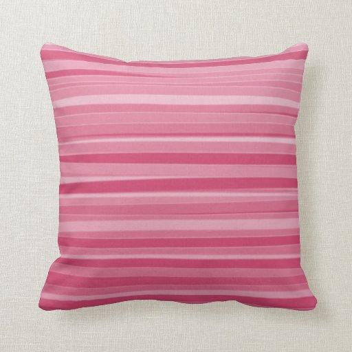 El rosa colorea la pintura de acrílico abstracta r almohadas