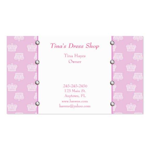 El rosa corona la tarjeta de visita