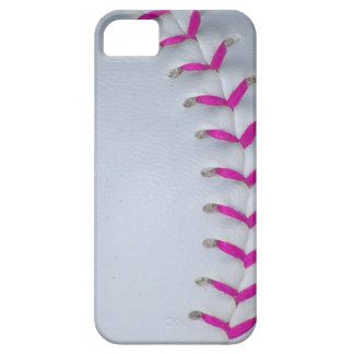 El rosa cose béisbol/softball iPhone 5 funda