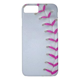 El rosa cose béisbol/softball funda iPhone 7