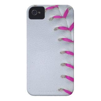 El rosa cose béisbol/softball funda para iPhone 4 de Case-Mate
